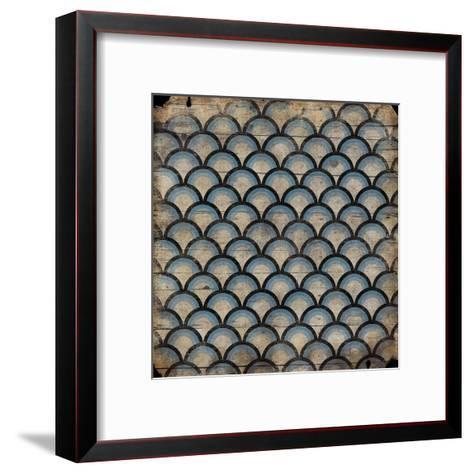 Blue pattern-Jace Grey-Framed Art Print