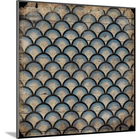 Blue pattern-Jace Grey-Mounted Art Print