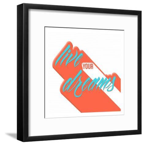 Live Your Dreams-OnRei-Framed Art Print