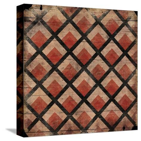 Red Pattern-Jace Grey-Stretched Canvas Print
