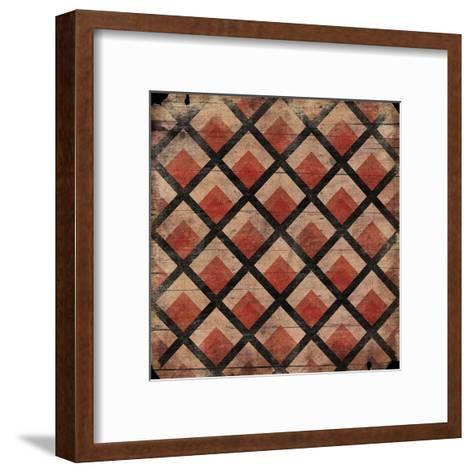Red Pattern-Jace Grey-Framed Art Print