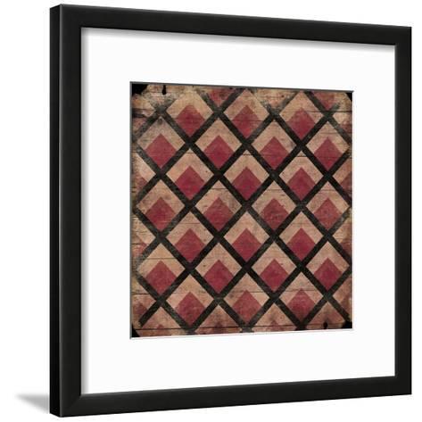 Ox Blood Pattern-Jace Grey-Framed Art Print