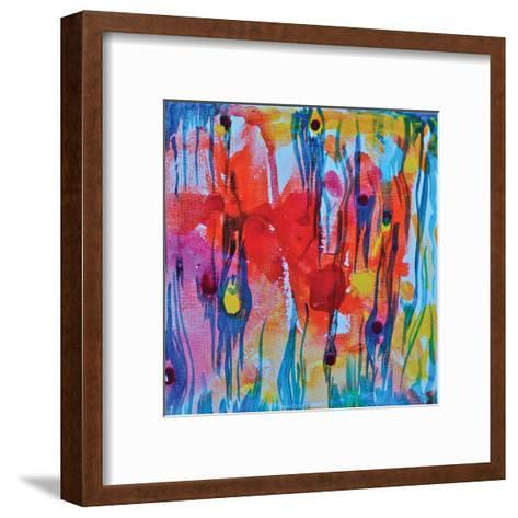 Blue Tiger-Pam Varacek-Framed Art Print