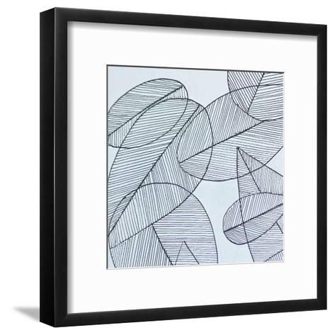 Grey Leaf-Pam Varacek-Framed Art Print