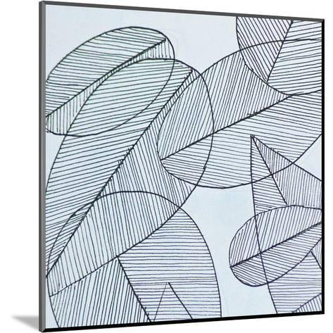 Grey Leaf-Pam Varacek-Mounted Art Print