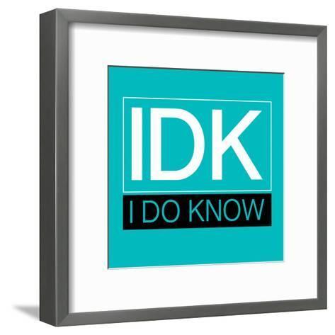 IDK-Jace Grey-Framed Art Print