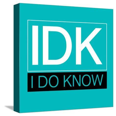 IDK-Jace Grey-Stretched Canvas Print