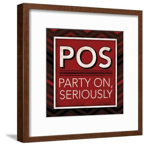 POS Bordered-Jace Grey-Framed Art Print