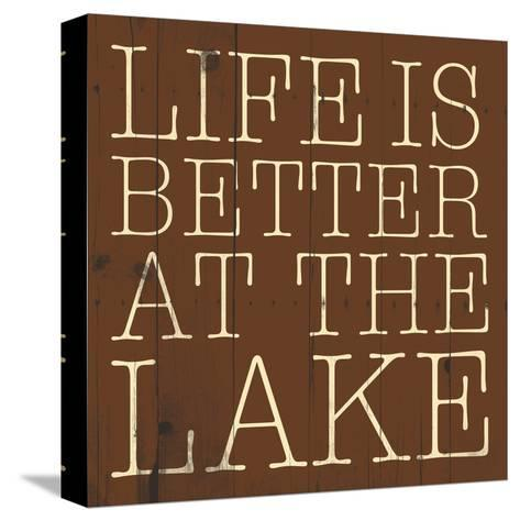 Better at the Lake-Jace Grey-Stretched Canvas Print