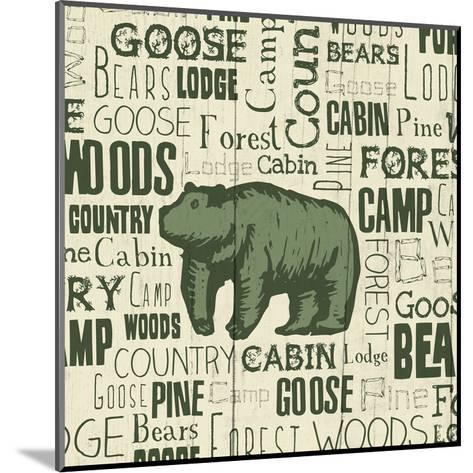 Bear Typography-Jace Grey-Mounted Art Print