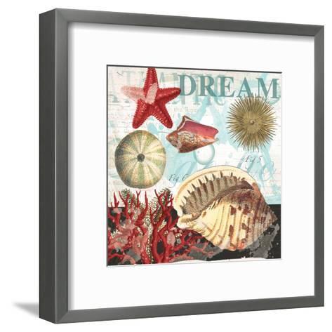 Red Dream Shells-Ophelia & Co^-Framed Art Print