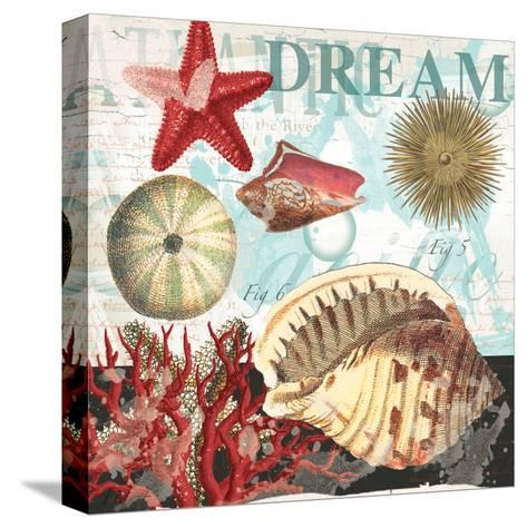 Red Dream Shells-Ophelia & Co^-Stretched Canvas Print