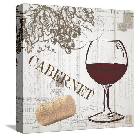 Vintage Wine 2-Carole Stevens-Stretched Canvas Print