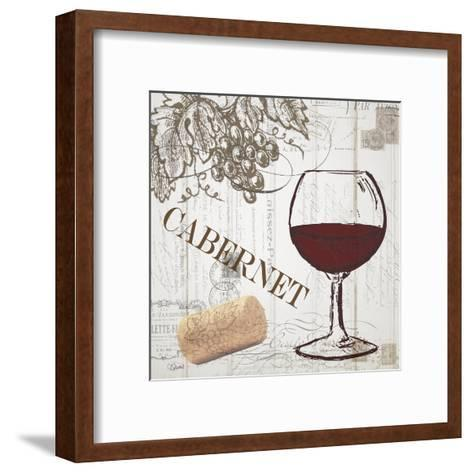 Vintage Wine 2-Carole Stevens-Framed Art Print