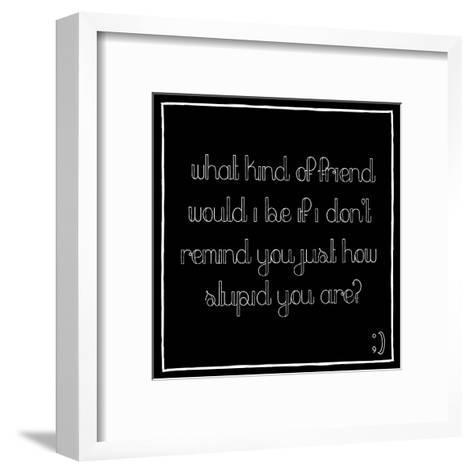 Friend-Jace Grey-Framed Art Print