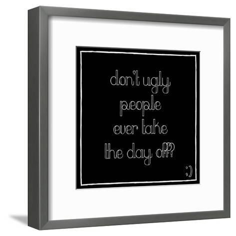 Day Off-Jace Grey-Framed Art Print