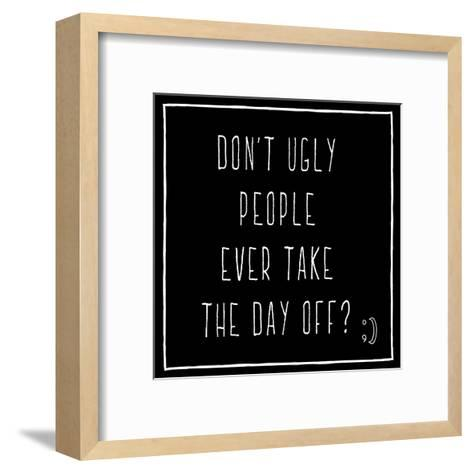 Day Off All Caps-Jace Grey-Framed Art Print