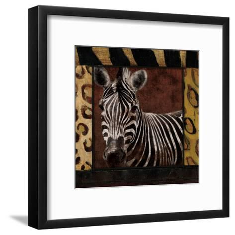 Zebra-Jace Grey-Framed Art Print