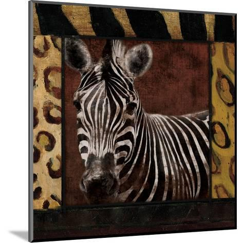 Zebra-Jace Grey-Mounted Art Print