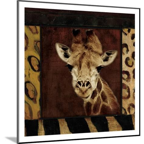 Giraffe-Jace Grey-Mounted Art Print