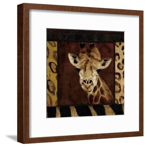 Giraffe-Jace Grey-Framed Art Print