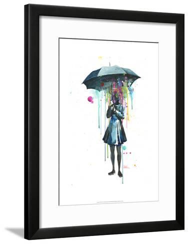Rainy-Lora Zombie-Framed Art Print
