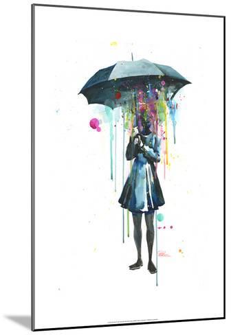 Rainy-Lora Zombie-Mounted Art Print
