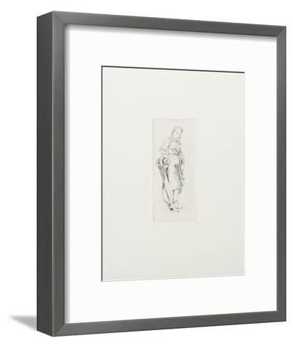 Young Woman with Kerchief-Isabel Bishop-Framed Art Print