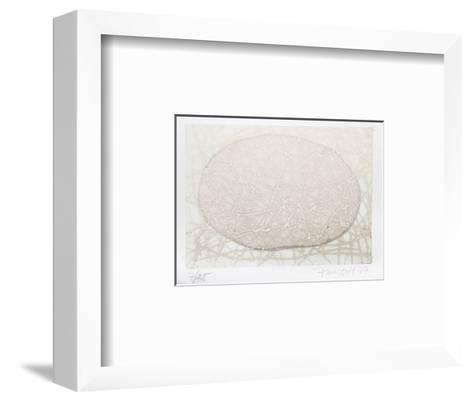 Enganxat Oual Groc Vernell Violeta 3-Pere Puiggros-Framed Art Print