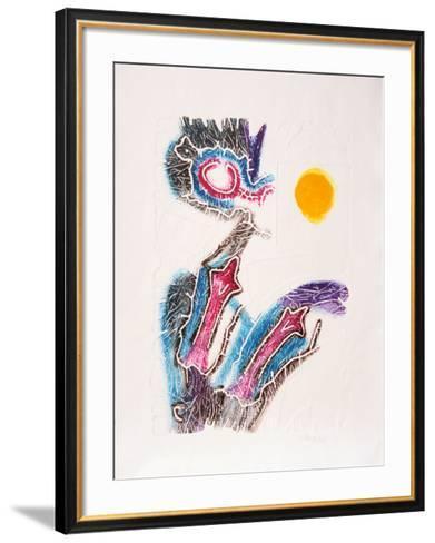 Dialogando en Amarillo-Stephan Strocen-Framed Art Print