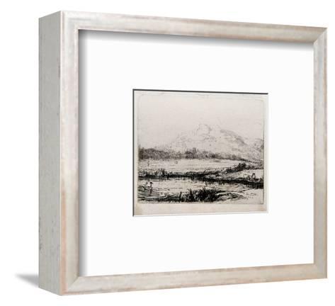 Le Canal aux Cygnes (B235)-Amand Durand-Framed Art Print