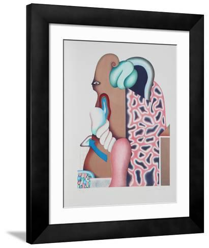 Untitled - Surrealist Portrait I-Jorg Reme-Framed Art Print