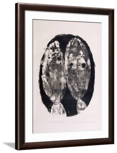 Two heads-Ronald Jay Stein-Framed Art Print