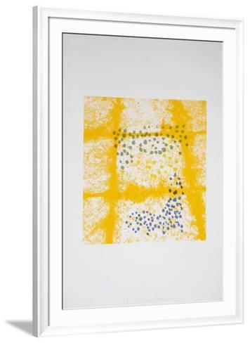 Untitled - Tiles Yellow-Menashe Kadishman-Framed Art Print