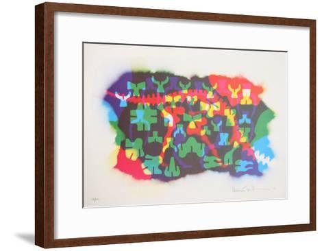Autobiographical Sketches Portfolio 3-Emmett Williams-Framed Art Print