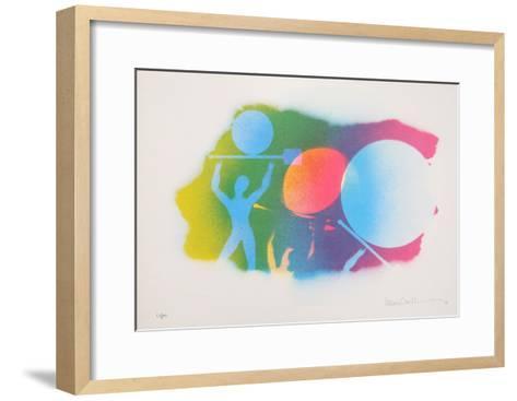 Autobiographical Sketches Portfolio 7-Emmett Williams-Framed Art Print