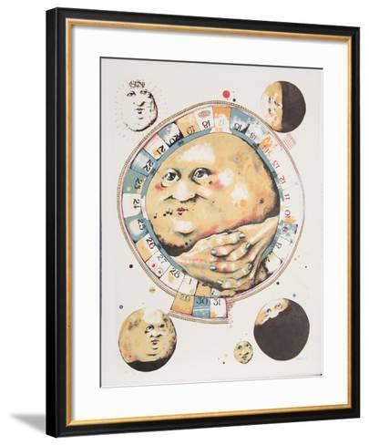 Man in the Moon Whistles from the Limestoned Portfolio-Dennis Geden-Framed Art Print