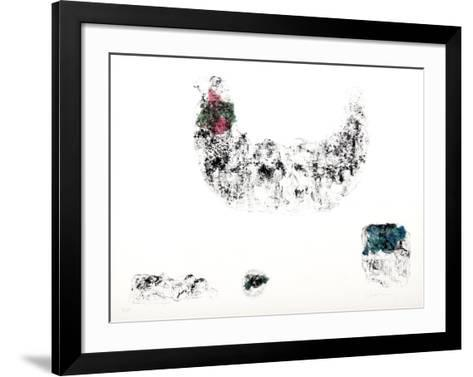 Horses - Variation 3 (Pink, Green, and Blue)-Lebadang-Framed Art Print