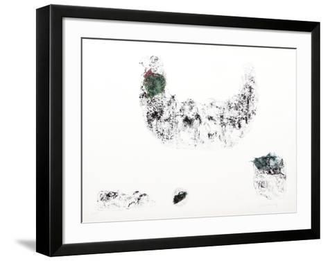 Horses - Variation 6 (Green and Blue)-Lebadang-Framed Art Print
