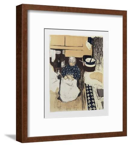 La Cuisiniere-Edouard Vuillard-Framed Art Print