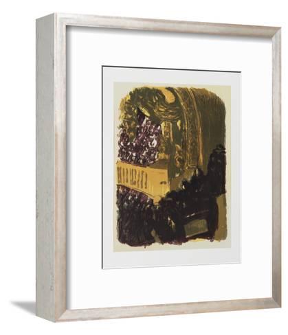 Une Gallerie au Gymnase-Edouard Vuillard-Framed Art Print