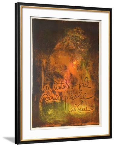 Nature Prays Without Words 3-Lebadang-Framed Art Print