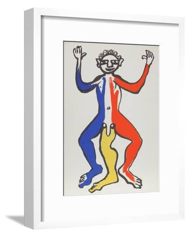 Derrier le Miroir (Acrobat (Blue, Yellow, Red))-Alexander Calder-Framed Art Print
