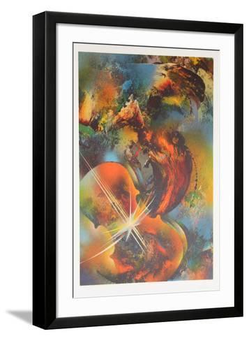 Mozart from the Sound of Color Portfolio-Leonardo Nierman-Framed Art Print