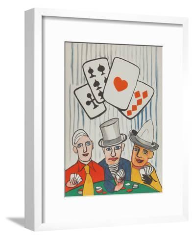Three Card Players-Alexander Calder-Framed Art Print