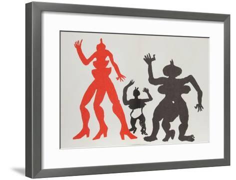 Derrier le Miroir (Three Acrobats)-Alexander Calder-Framed Art Print