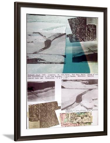 Boundary Split-Dennis Oppenheim-Framed Art Print
