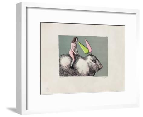 Le lapin-Roland Topor-Framed Art Print