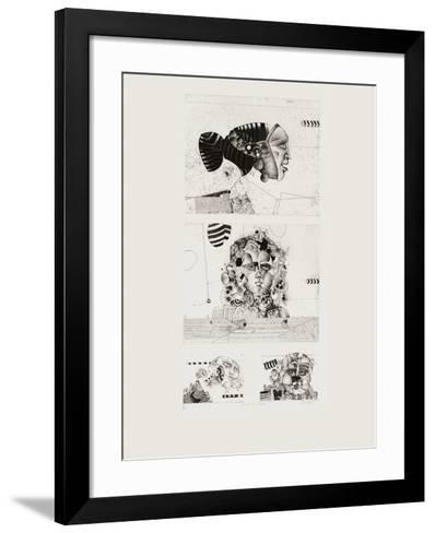 Quatre masques-Bezdikian Assadour-Framed Art Print