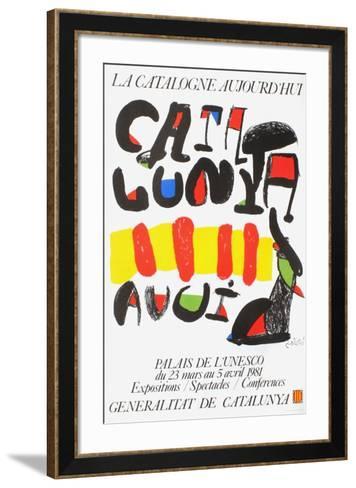 Expo 81 - La Catalogne aujourd'hui-Joan Mir?-Framed Art Print